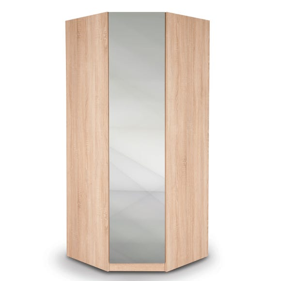 Hyde Mirrored Corner Wardrobe
