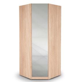 Hyde Mirrored Corner Wardrobe