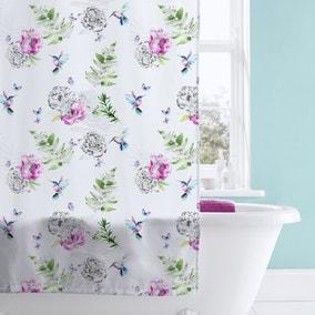Heavenly Hummingbird Shower Curtain