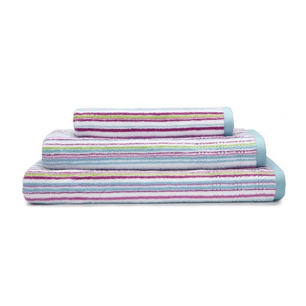 Heavenly Hummingbird Duck Egg Stripe Towel  undefined