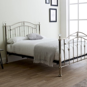 Callisto Chrome and Crystal Bedstead