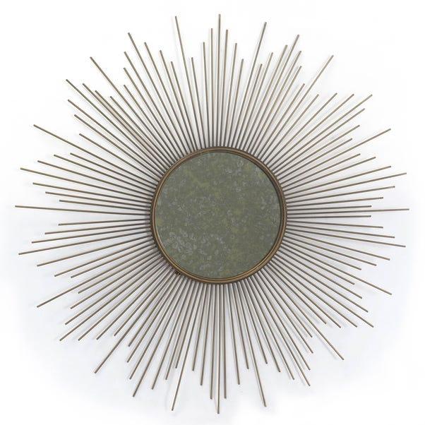 Deco Charm Starburst Mirrored Wall Art Gold