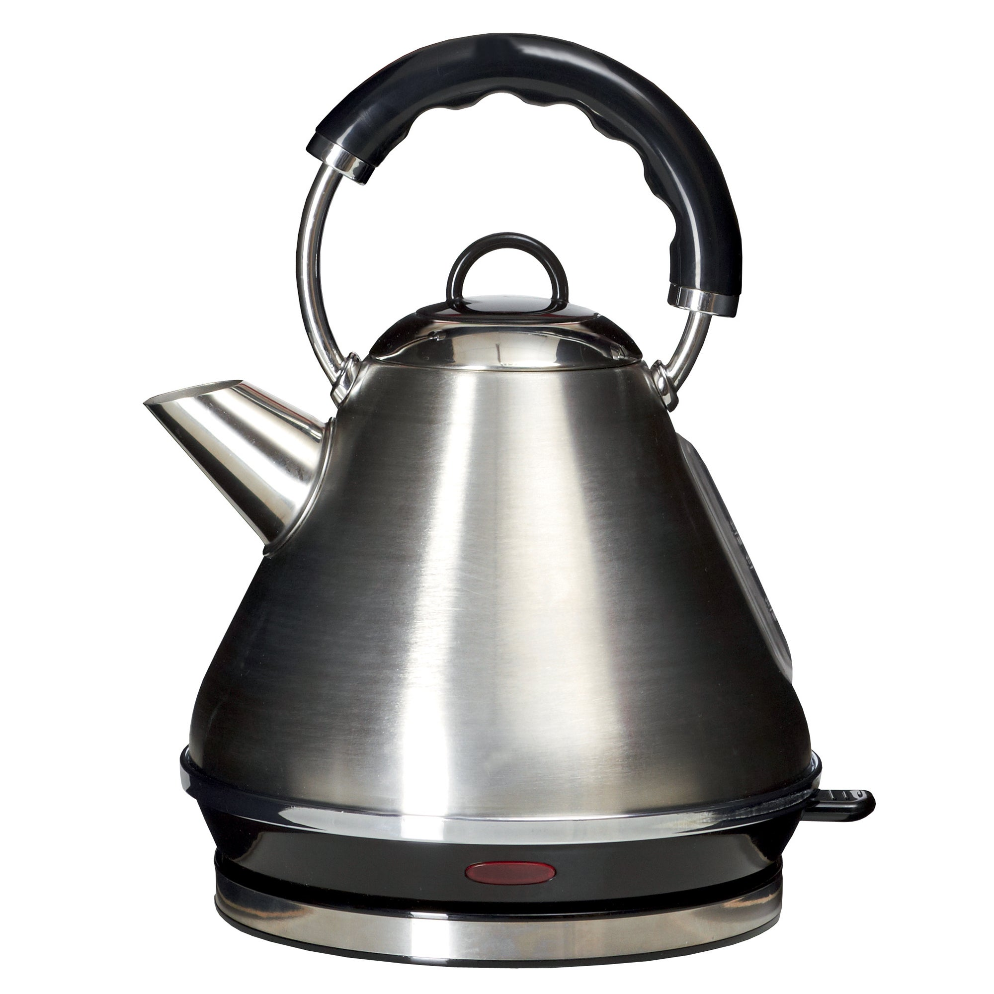 Click to view product details and reviews for Spectrum Brushed Stainless Steel Pyramid Kettle Silver And Black.