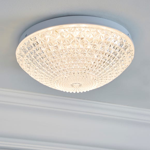 Termoli 20cm Integrated LED Glass Flush Ceiling Fitting Clear