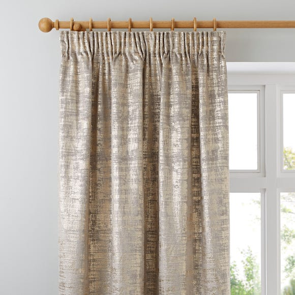 Romano Gold Velour Pencil Pleat Curtains  undefined