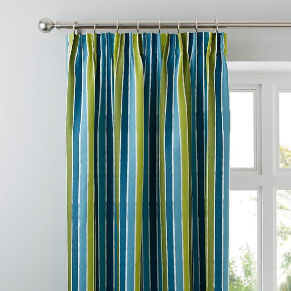 Catherine Lansfield Dino Pencil Pleat Curtains Green undefined