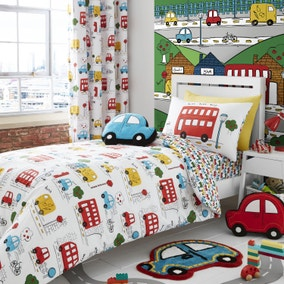 Catherine Lansfield Transport Bright Duvet Cover and Pillowcase Set