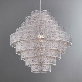 Tunis Multi Tier Chrome Easy Fit Pendant
