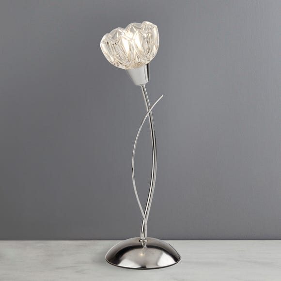 Ceccano Flower Glass Table Lamp Dunelm, Girly Table Lamps