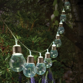 Cole & Bright Dual Power 10 White Bulb Solar String Lights