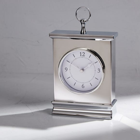 Dorma Chrome Mantle Clock Silver