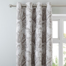 Palm Spring Grey Eyelet Curtains