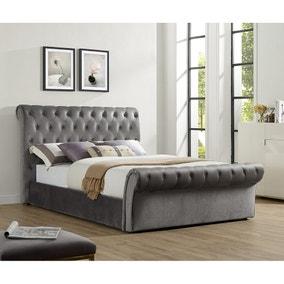 Serenity Velvet Storage Bed Frame