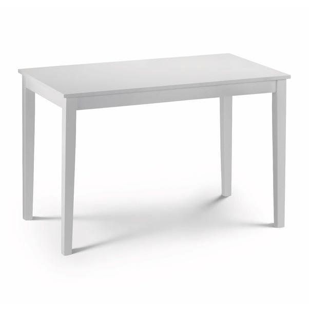Taku 114cm White Dining Table White