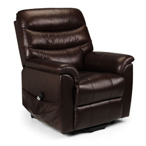 Pullman Leather Dual Motor Recliner - Brown