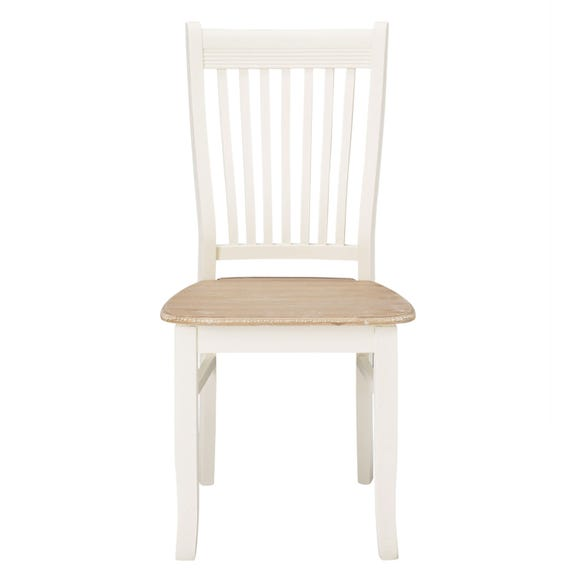 Juliette Pair of White Dining Chairs White