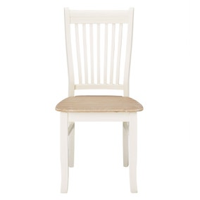 Juliette Pair of White Dining Chairs