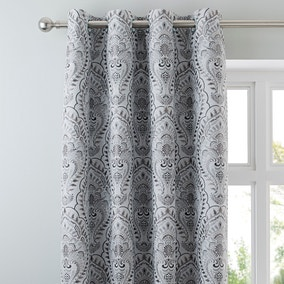 Leonardo Dove Grey Eyelet Curtains