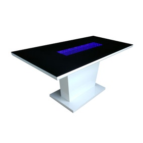 Matrix Dining Table with LED Lights