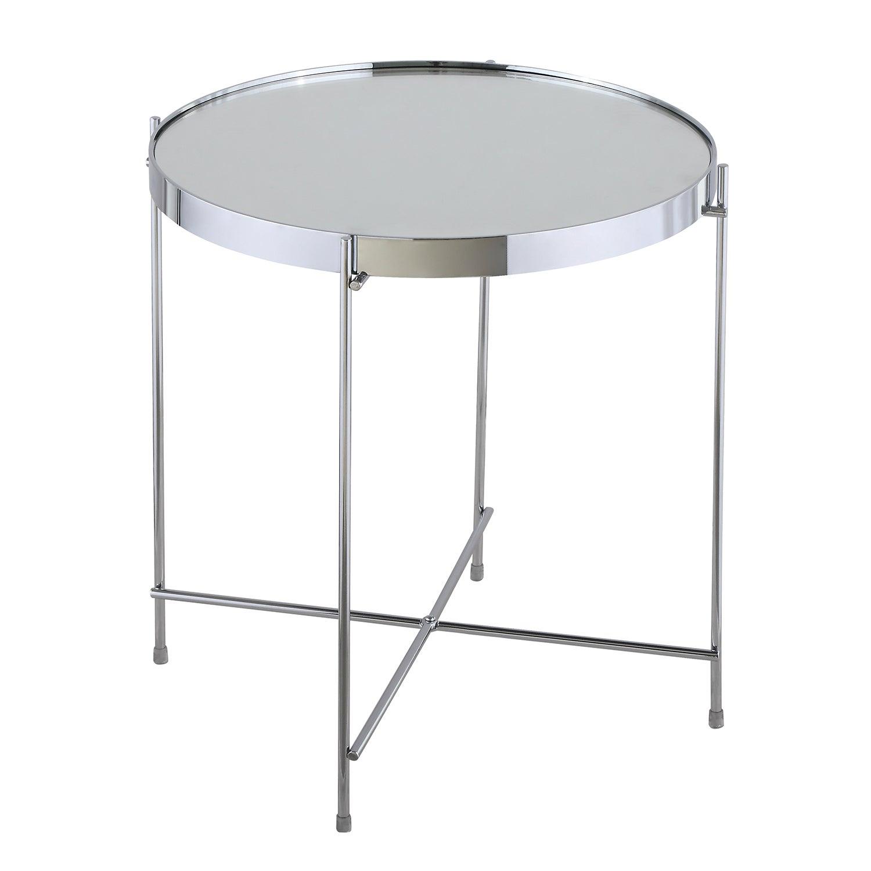 Oakland Circular Chrome Lamp Table Silver