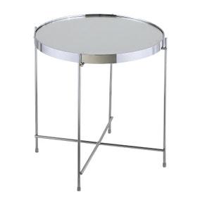 Oakland Circular Chrome Lamp Table