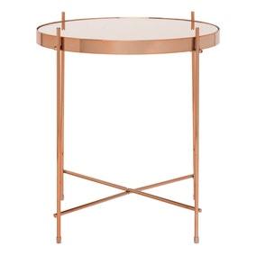 Oakland Circular Copper Lamp Table - Copper