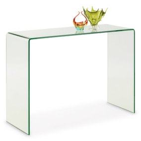 Amali Bent Glass Console Table - Clear