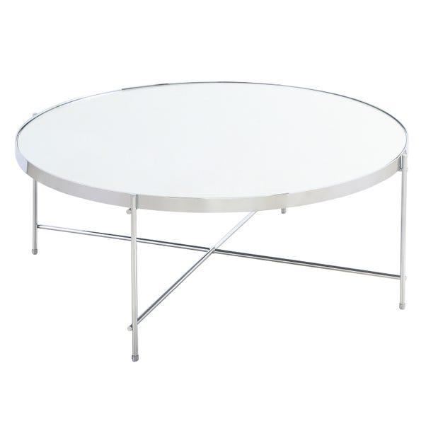 Oakland Circular Chrome Coffee Table