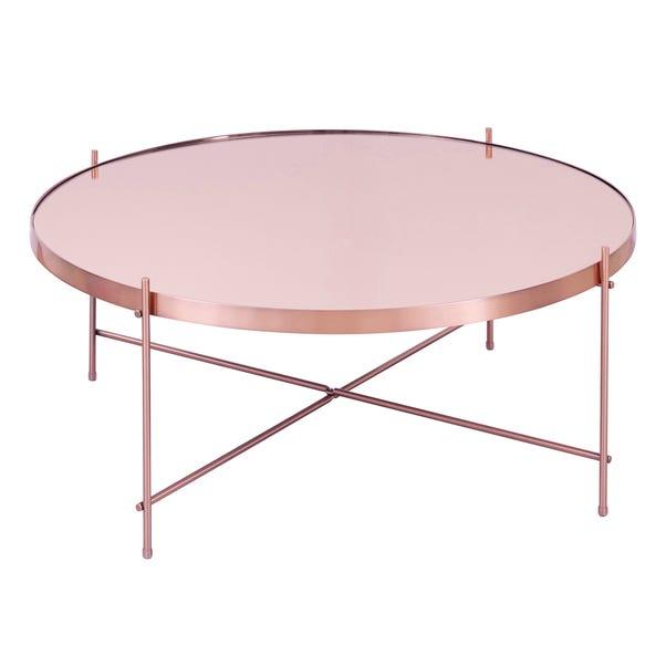 Oakland Circular Copper Coffee Table - Copper