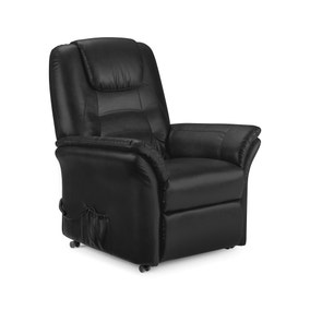 Riva Black Riser Recliner Armchair - Black