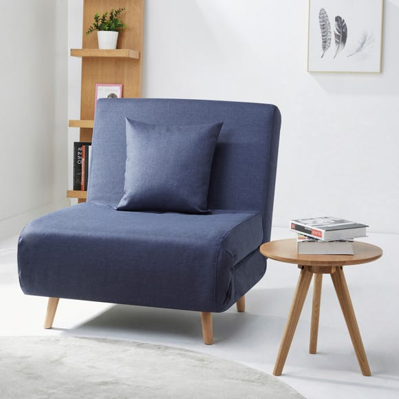 Macy Fabric Blue Chair Bed