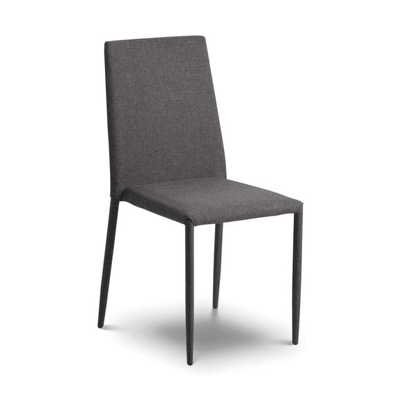 Jazz Set of 4 Stacking Dining Chairs Slate (Grey)