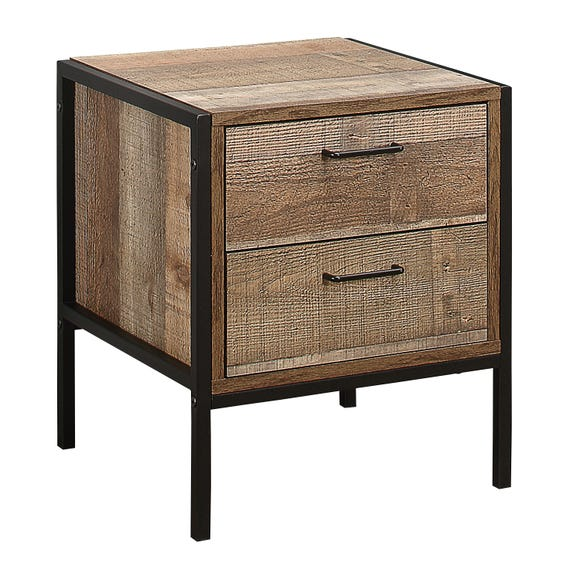 Urban Rustic Bedside Table Natural