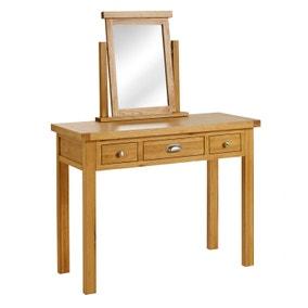 Woburn Oak 3 Drawer Dressing Table
