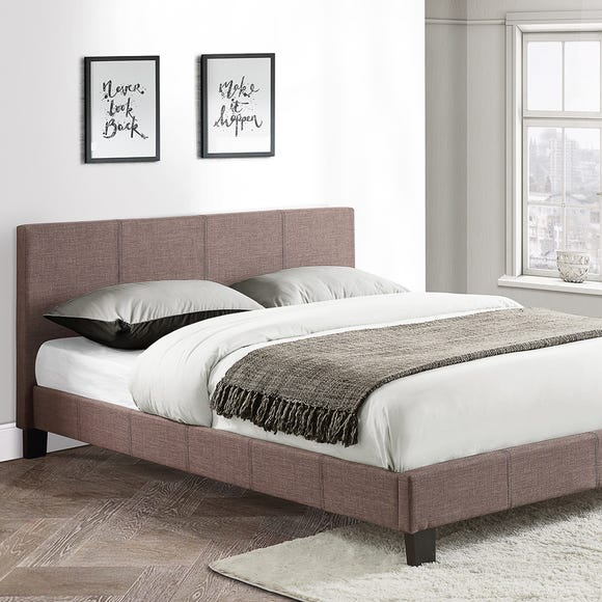Berlin Upholstered Bed Frame Grey undefined
