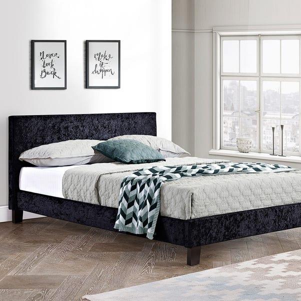 Berlin Crushed Velvet Bed Frame Silver undefined