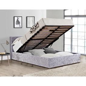 Berlin Crushed Velvet Ottoman Bed
