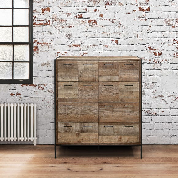 Urban Rustic 8 Drawer Merchant Chest - Natural Natural