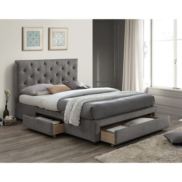 Monet Grey Fabric Bed Frame  undefined