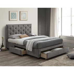 Monet Grey Fabric Bed Frame