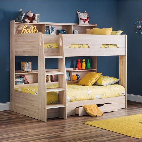 Orion Single Oak Bunk Bed Wood (Brown)