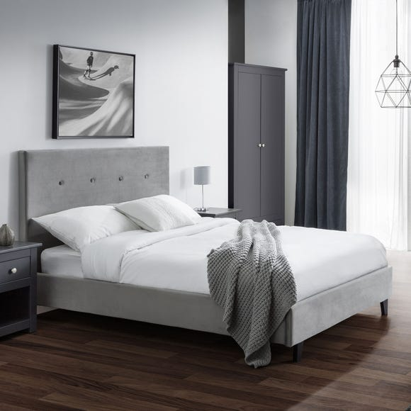 Shoreditch Fabric Bed Frame Grey undefined