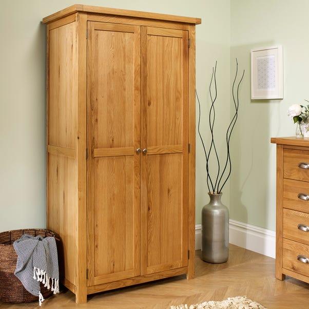 Woburn Oak Double Wardrobe Natural