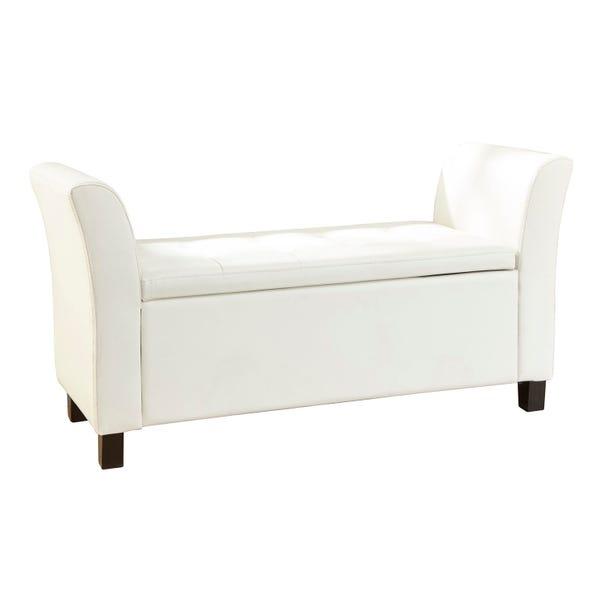 Verona Faux Leather Window Seat - White White
