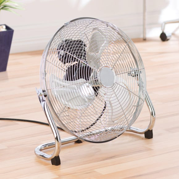 18 Inch Chrome Floor Fan Silver
