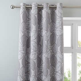 Sherwood Silver Eyelet Curtains