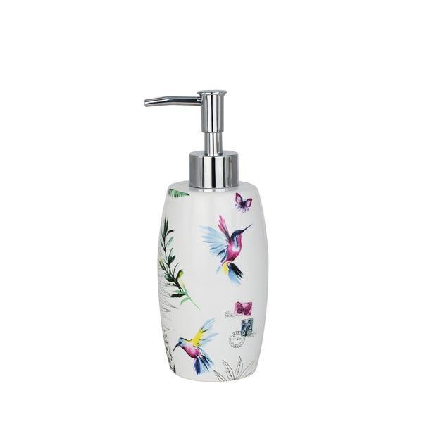 Heavenly Hummingbird Lotion Dispenser White