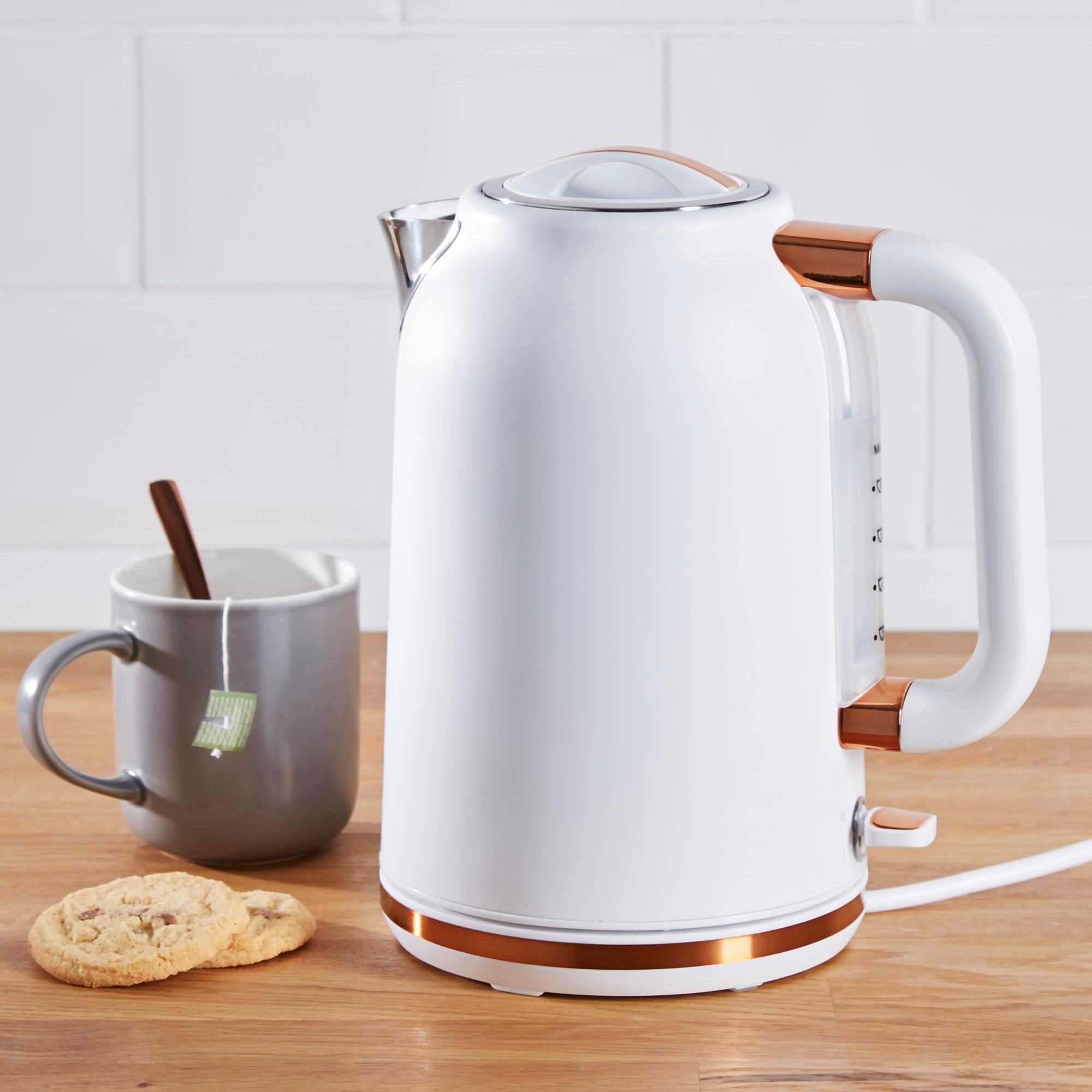 Click to view product details and reviews for Dunelm 17l 3kw Matt White Copper Jug Kettle White.