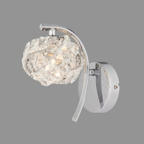 Cecilie Glass Wall Light
