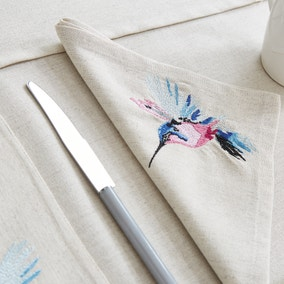Set of 4 Heavenly Hummingbird Napkins